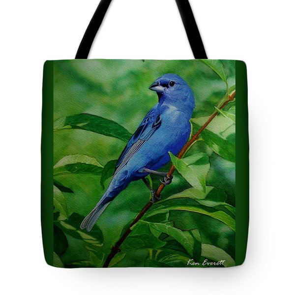 Indigo Bunting Tote Bag by Ken Everett