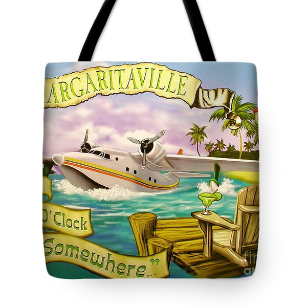 It's 5 O'clock Somewhere Tote Bag by Desiderata Gallery