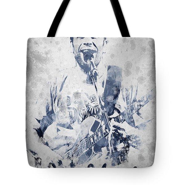 Jack Johnson Portrait Tote Bag by Aged Pixel