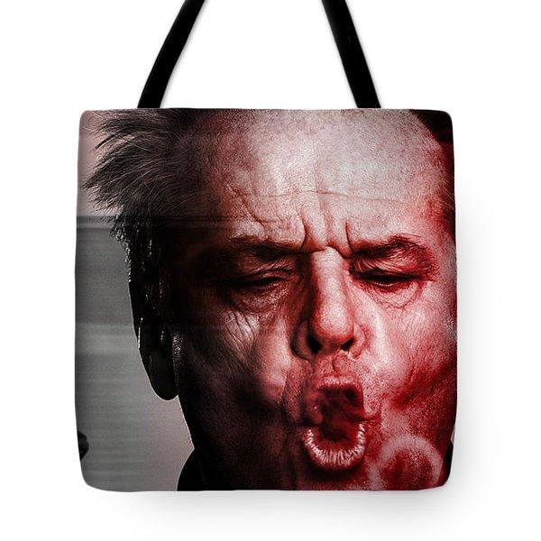 Jack Nicholson Tote Bag by Marvin Blaine