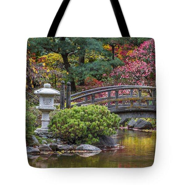 Japanese Bridge Tote Bag by Sebastian Musial