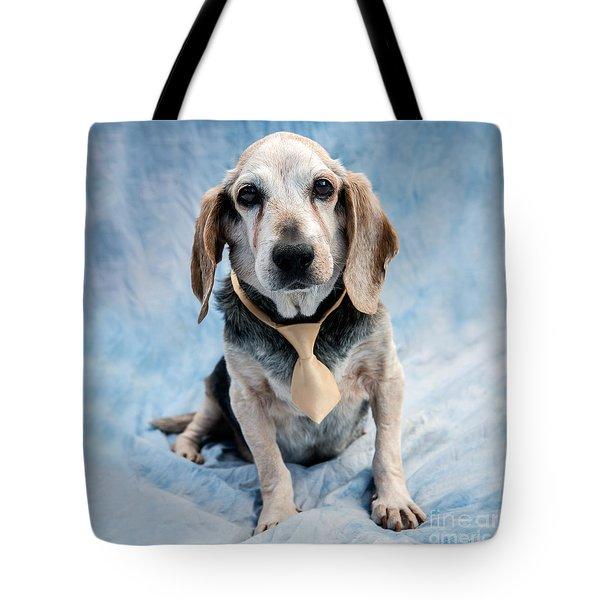 Kippy Beagle Senior And Best Dog Ever Tote Bag by Iris Richardson
