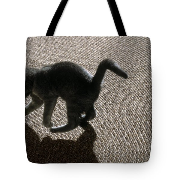 Kitten Playing With Ball Tote Bag by James L. Amos