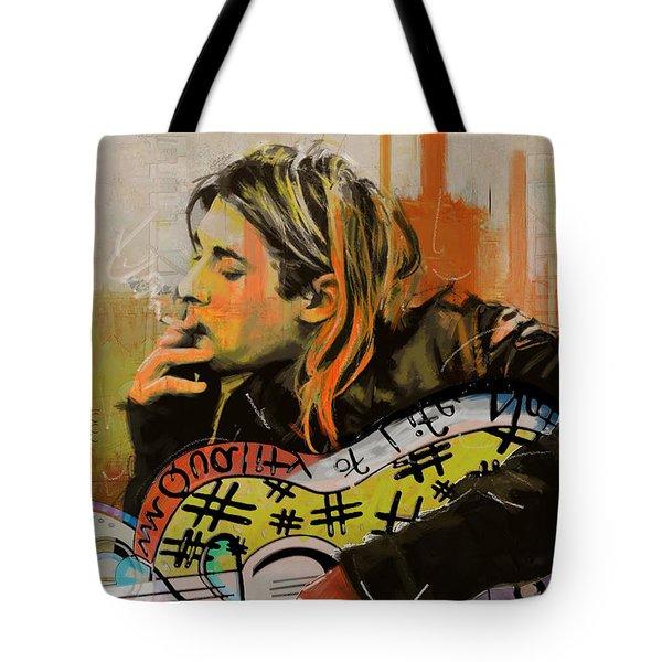 Kurt Cobain Tote Bag by Corporate Art Task Force