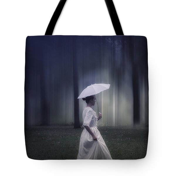 lady in the woods Tote Bag by Joana Kruse