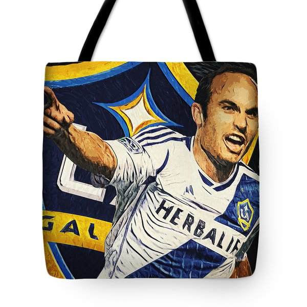 Landon Donovan Tote Bag by Taylan Apukovska