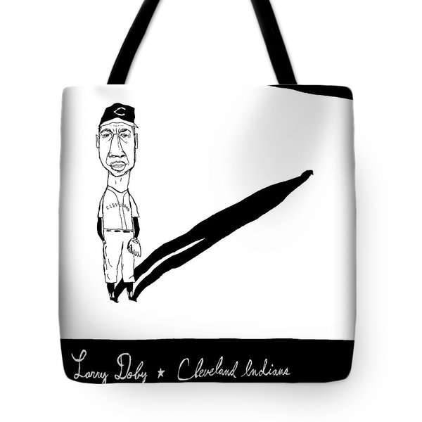 Larry Doby Cleveland Indians Tote Bag by Jay Perkins