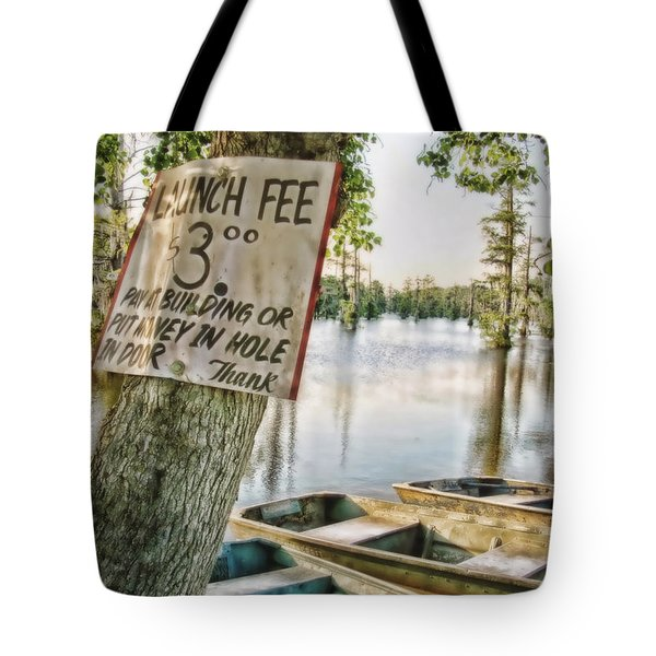 Launch Fee Tote Bag by Scott Pellegrin