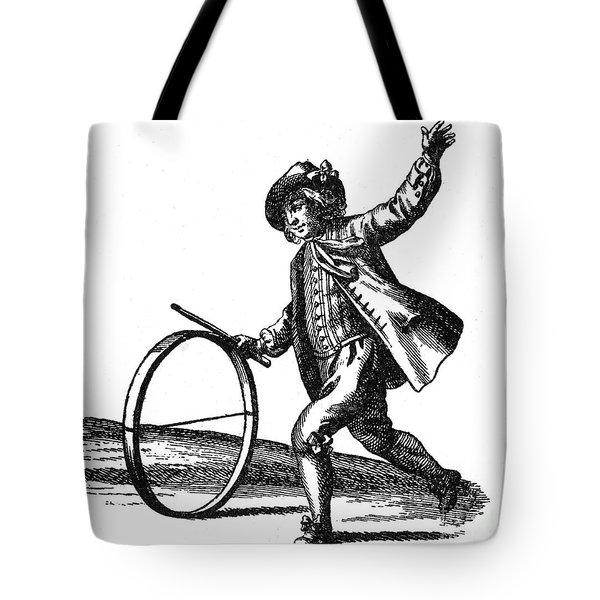 Le Jeu Du Cerceau, Hoop Rolling, 18th Tote Bag by Photo Researchers