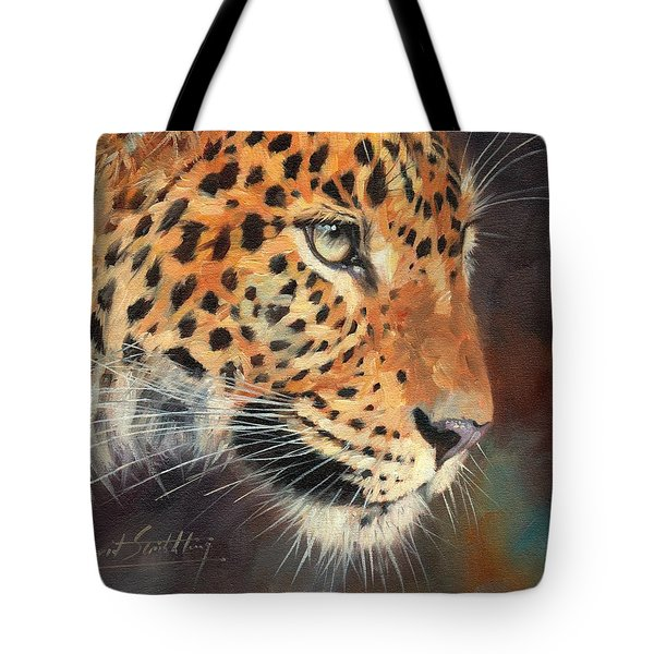Leopard Tote Bag by David Stribbling