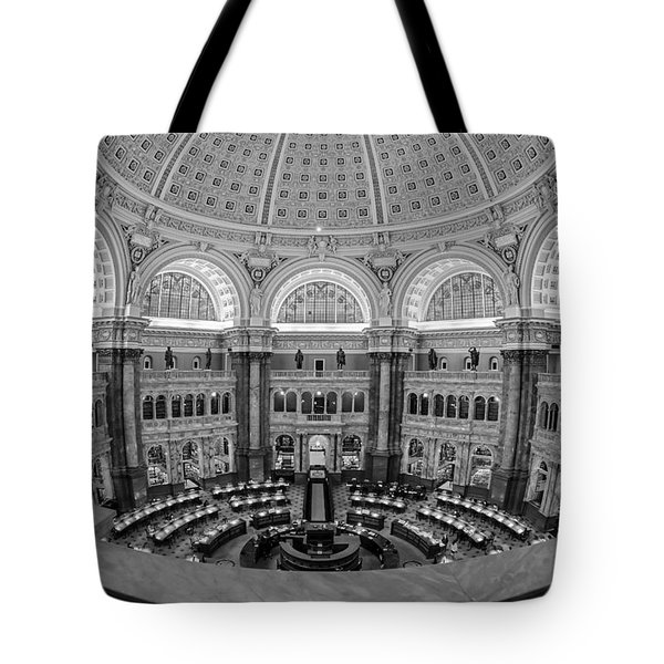 Library Of Congress Main Reading Room Tote Bag by Susan Candelario