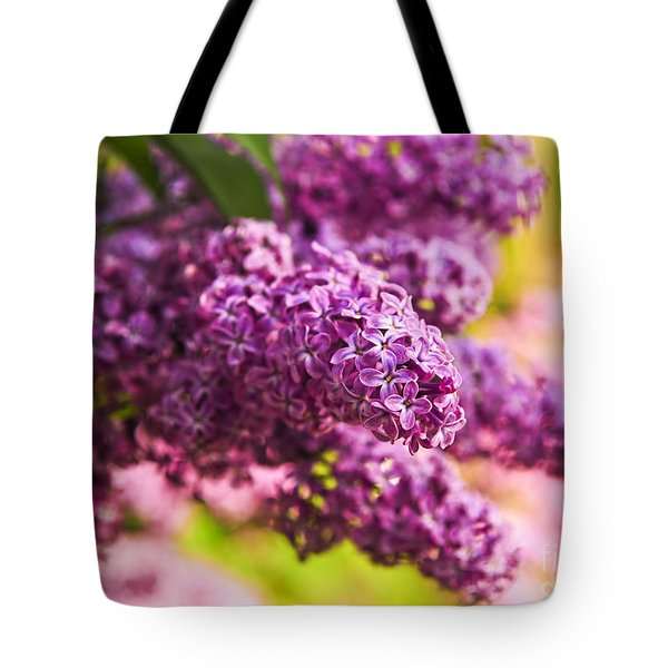 Lilacs Tote Bag by Elena Elisseeva