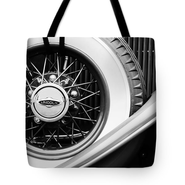 Lincoln Spare Tire Emblem Tote Bag by Jill Reger