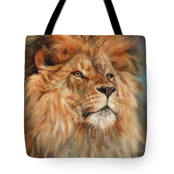 Lion Tote Bag by David Stribbling