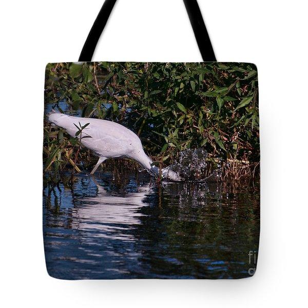 Little Blue Splash Tote Bag by Photos By  Cassandra
