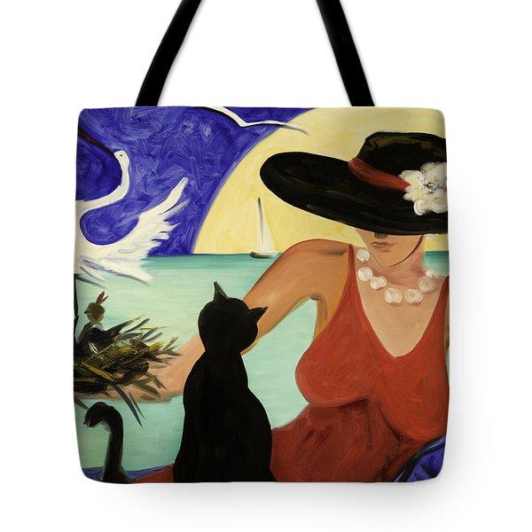 Living The Dream Tote Bag by Gina De Gorna