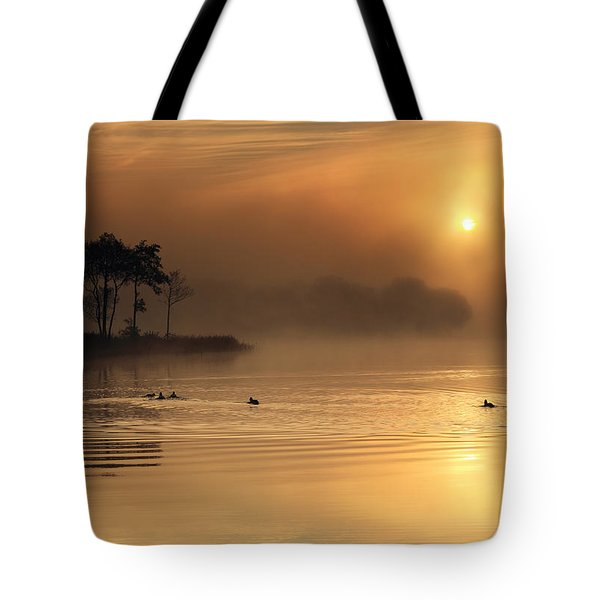 Loch Ard Morning Glow Tote Bag by Grant Glendinning