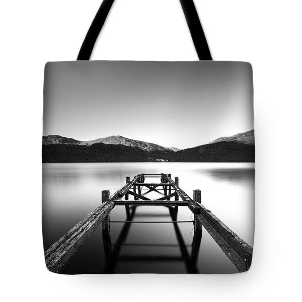 Loch Lomond Jetty Tote Bag by Grant Glendinning