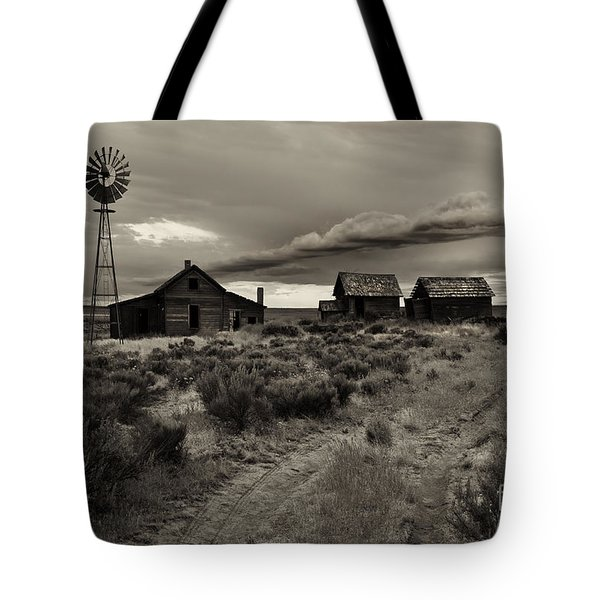 Lonely House On The Prairie Tote Bag by Mike  Dawson