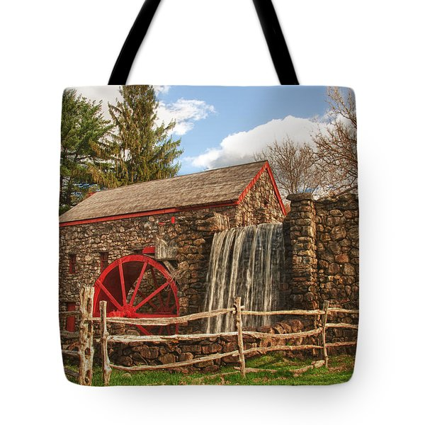 Longfellow's Wayside Inn grist mill Tote Bag by Jeff Folger