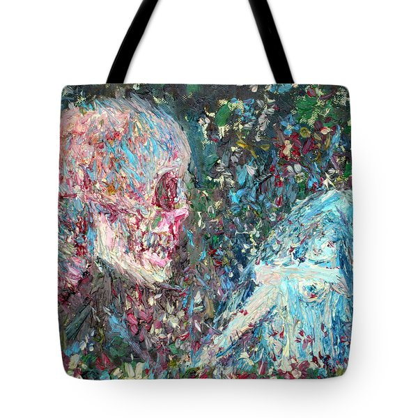 Love Cannot Live By Heavenly Food Alone Tote Bag by Fabrizio Cassetta