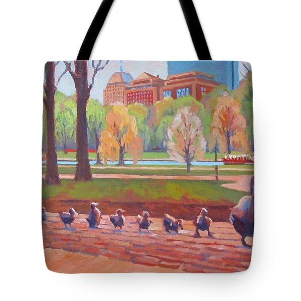 Make Way For Ducklings Tote Bag by Dianne Panarelli Miller