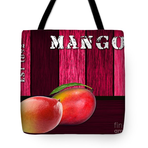 Mango Farm Sign Tote Bag by Marvin Blaine
