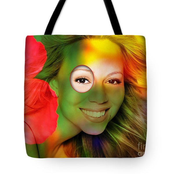 Mariah Carey Tote Bag by Marvin Blaine