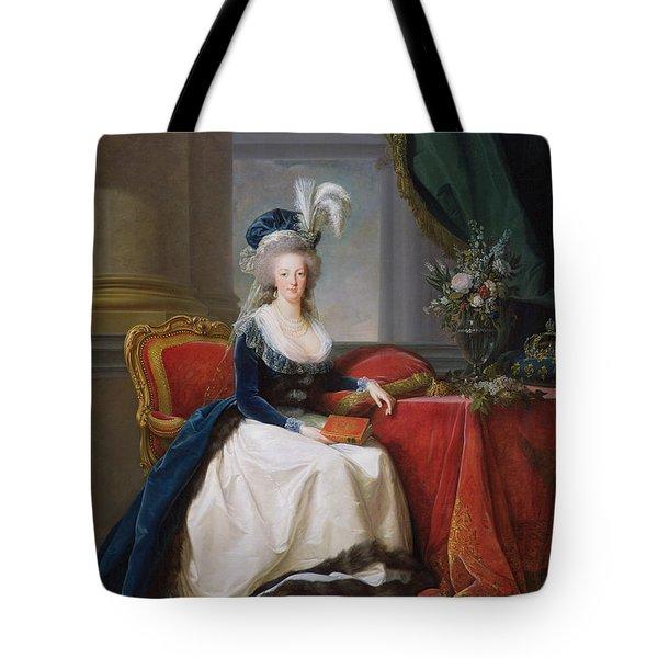 Marie Antoinette Tote Bag by Elisabeth Louise Vigee-Lebrun