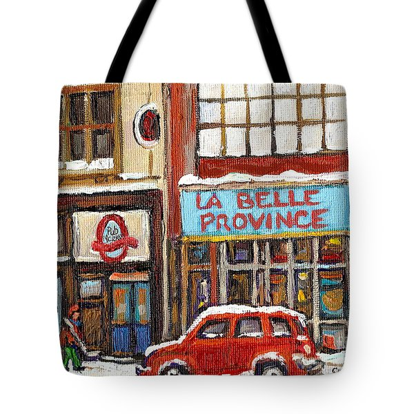 Mcleans Irish Pub Montreal Tote Bag by Carole Spandau