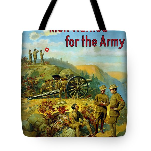 Men Wanted For The Army Tote Bag by War Is Hell Store