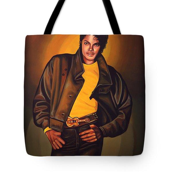 Michael Jackson Tote Bag by Paul  Meijering