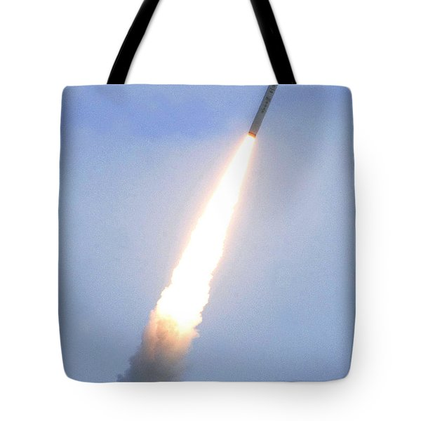 Minotaur Iv Lite Launch Tote Bag by Science Source