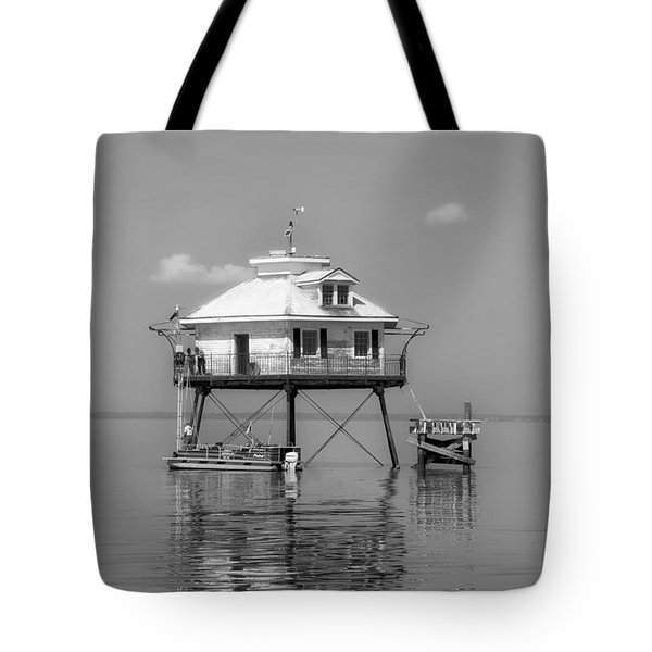 Mobile Bay Lighthouse Tote Bag by Mountain Dreams