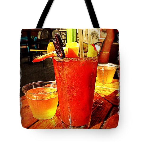 Morning Bloody Tote Bag by Perry Webster