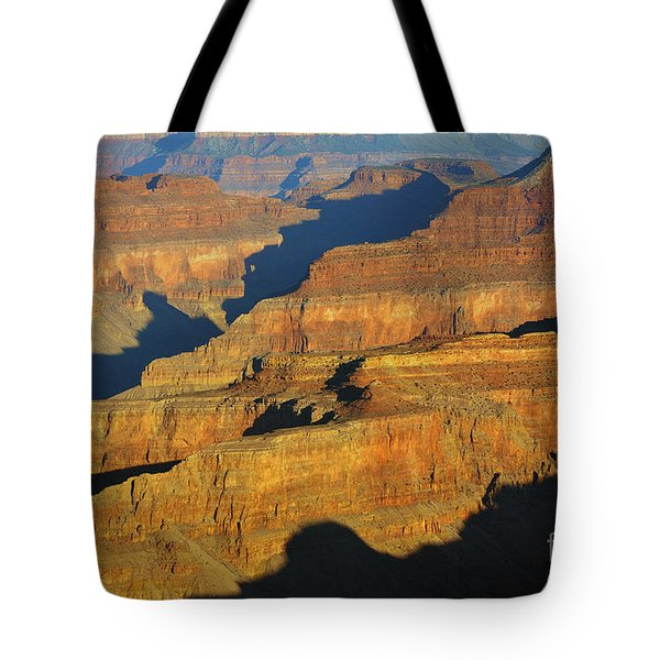 Morning Color And Shadow Play In Grand Canyon National Park Tote Bag by Shawn O'Brien