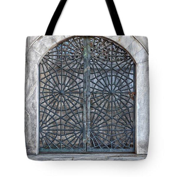 Mosque Window Tote Bag by Antony McAulay