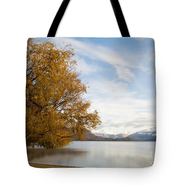Mountain Dawn Tote Bag by Tim Hester