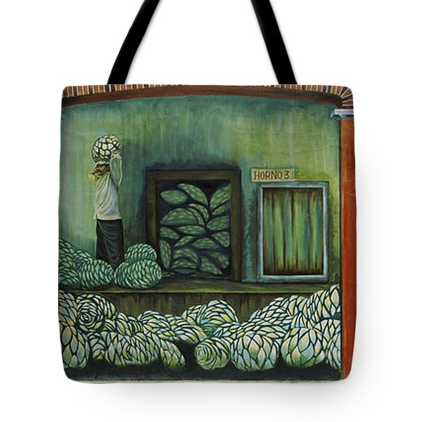 Mural On A Wall, Cancun, Yucatan, Mexico Tote Bag by Panoramic Images