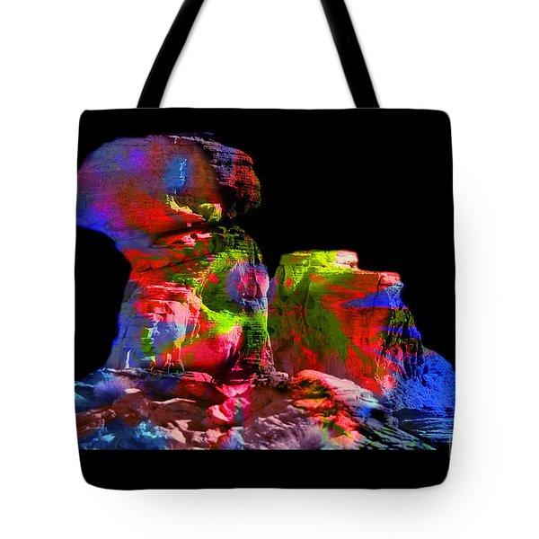 Mushroom Rock Tote Bag by Gunter Nezhoda