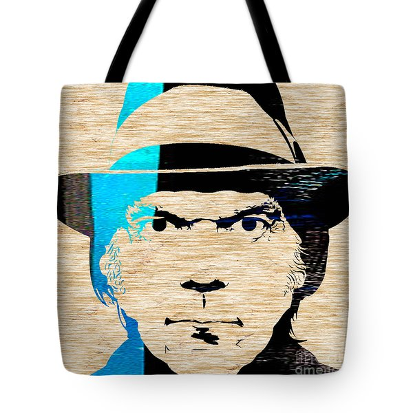 Neil Young Tote Bag by Marvin Blaine