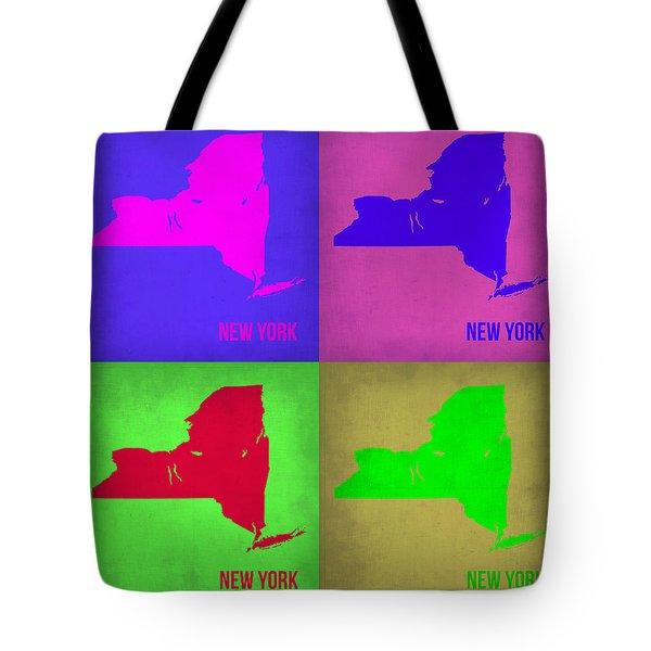 New York Pop Art Map 1 Tote Bag by Naxart Studio