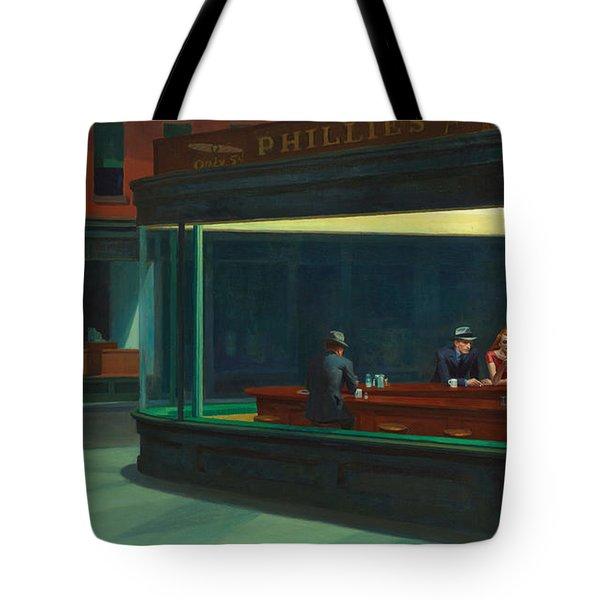 Nighthawks Tote Bag by Edward Hopper