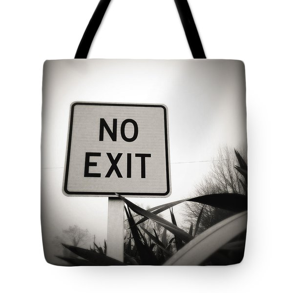 No Exit Tote Bag by Les Cunliffe