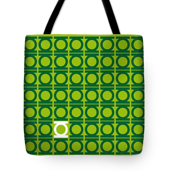 No120 My GREEN LANTERN minimal movie poster Tote Bag by Chungkong Art