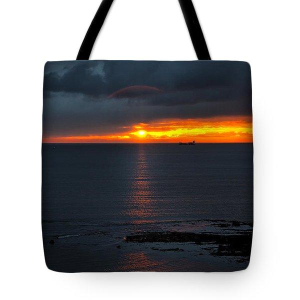Northumbrian Day Break Tote Bag by Jim Jones