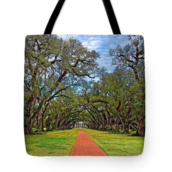 Oak Alley 3 Tote Bag by Steve Harrington