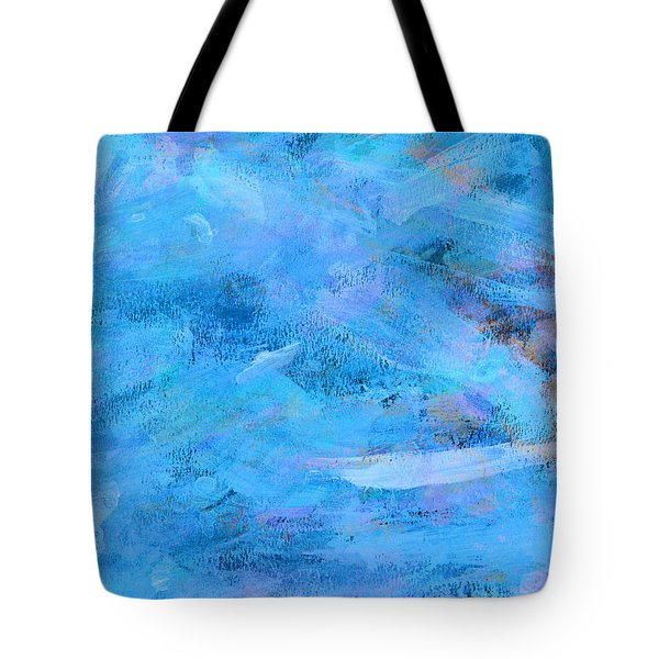 Ocean Blue Abstract Tote Bag by Frank Tschakert