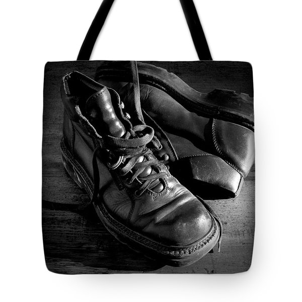 Old Leather Shoes Tote Bag by Fabrizio Troiani