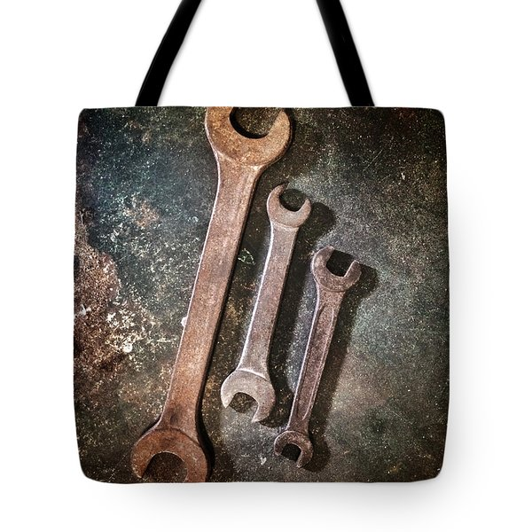 Old Spanners Tote Bag by Carlos Caetano